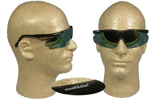 magnum safety glasses with gold mirror lens