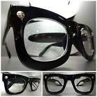 Men's Women VINTAGE RETRO Style Clear Lens EYE GLASSES Thick