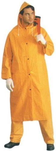 "ToolUSA Men's Large Size 48"" Full 35 Mil Yellow Raincoat Wit"