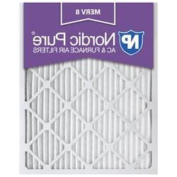 Nordic Pure 16x20x1 MERV 8 AC Furnace Air Filters Qty 6