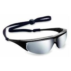 Millenniatm Safety Glasses With Silver Mirror Lens And Black
