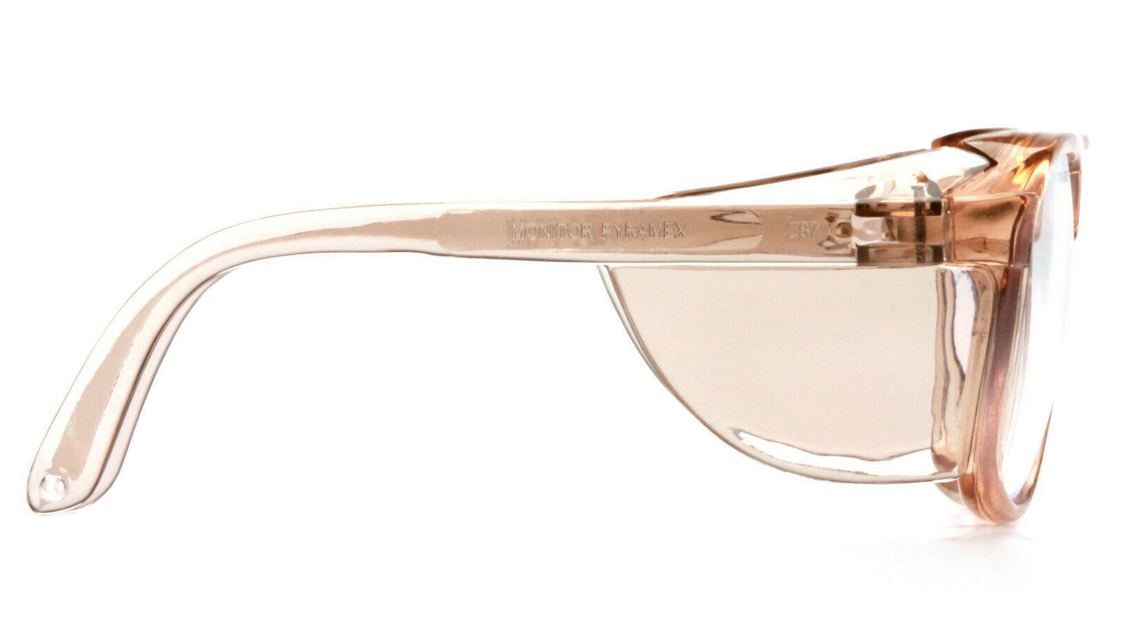 Pyramex Caramel Retro Aviator Safety Glasses Shield