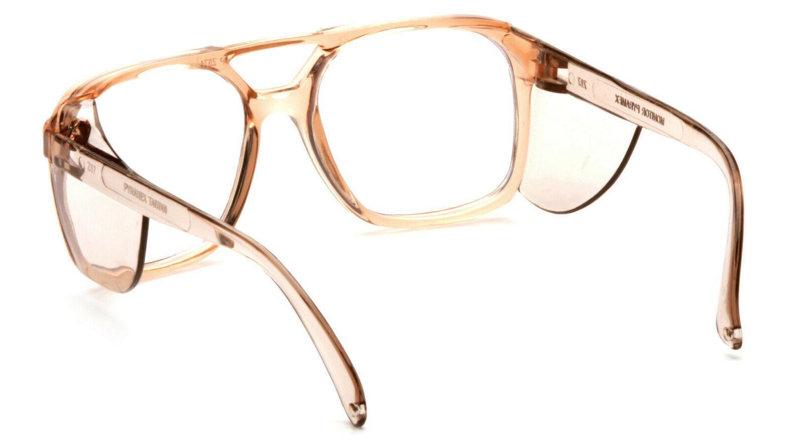 Pyramex Monitor Caramel Glasses Side