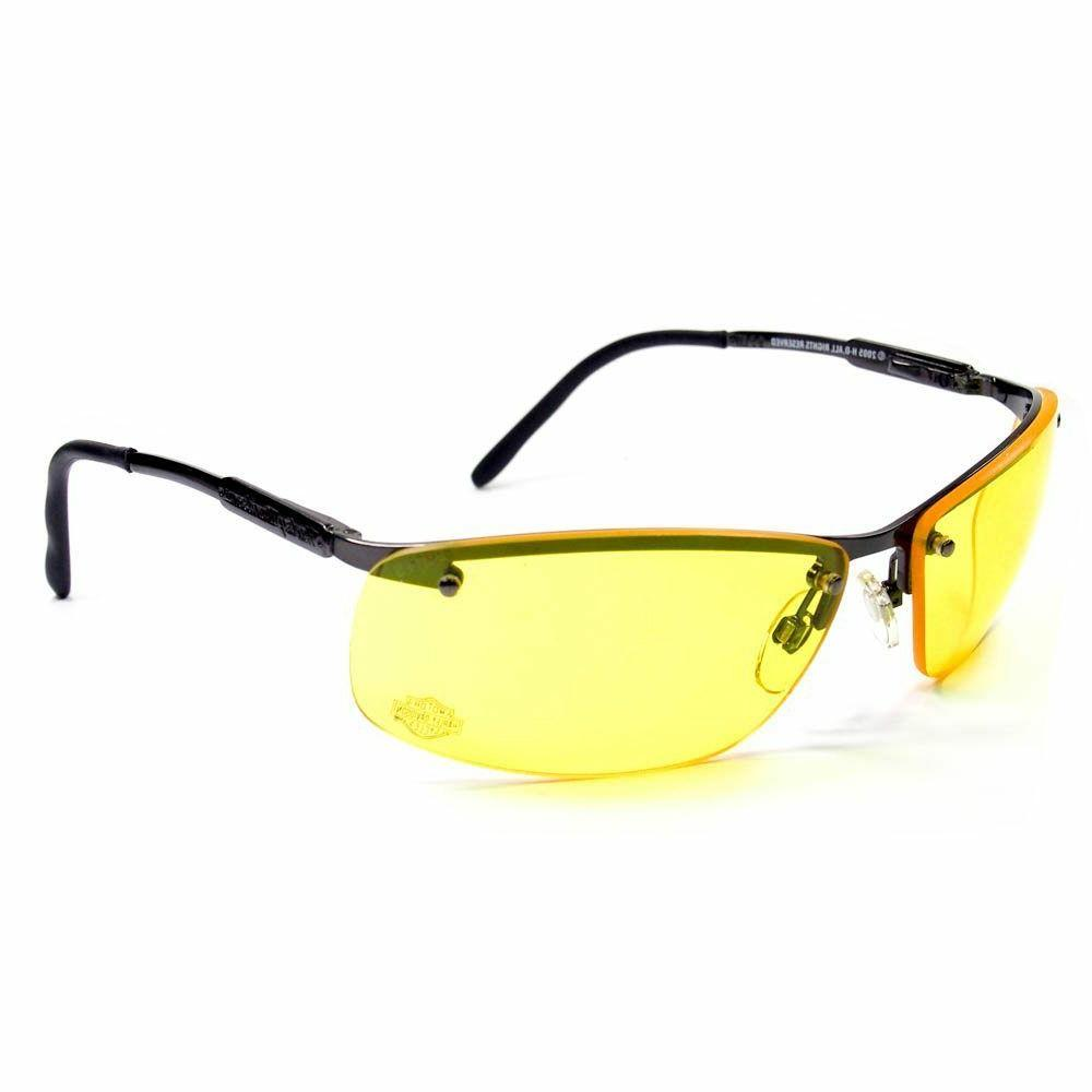 motorcycle safety riding glasses metal frame amber