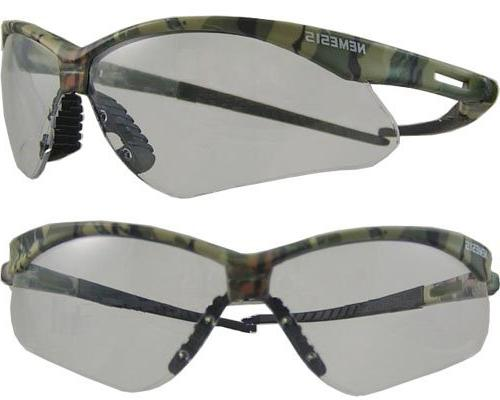 Jackson Safety* Nemesis Safety Glasses, Black Frame, Blue Sh