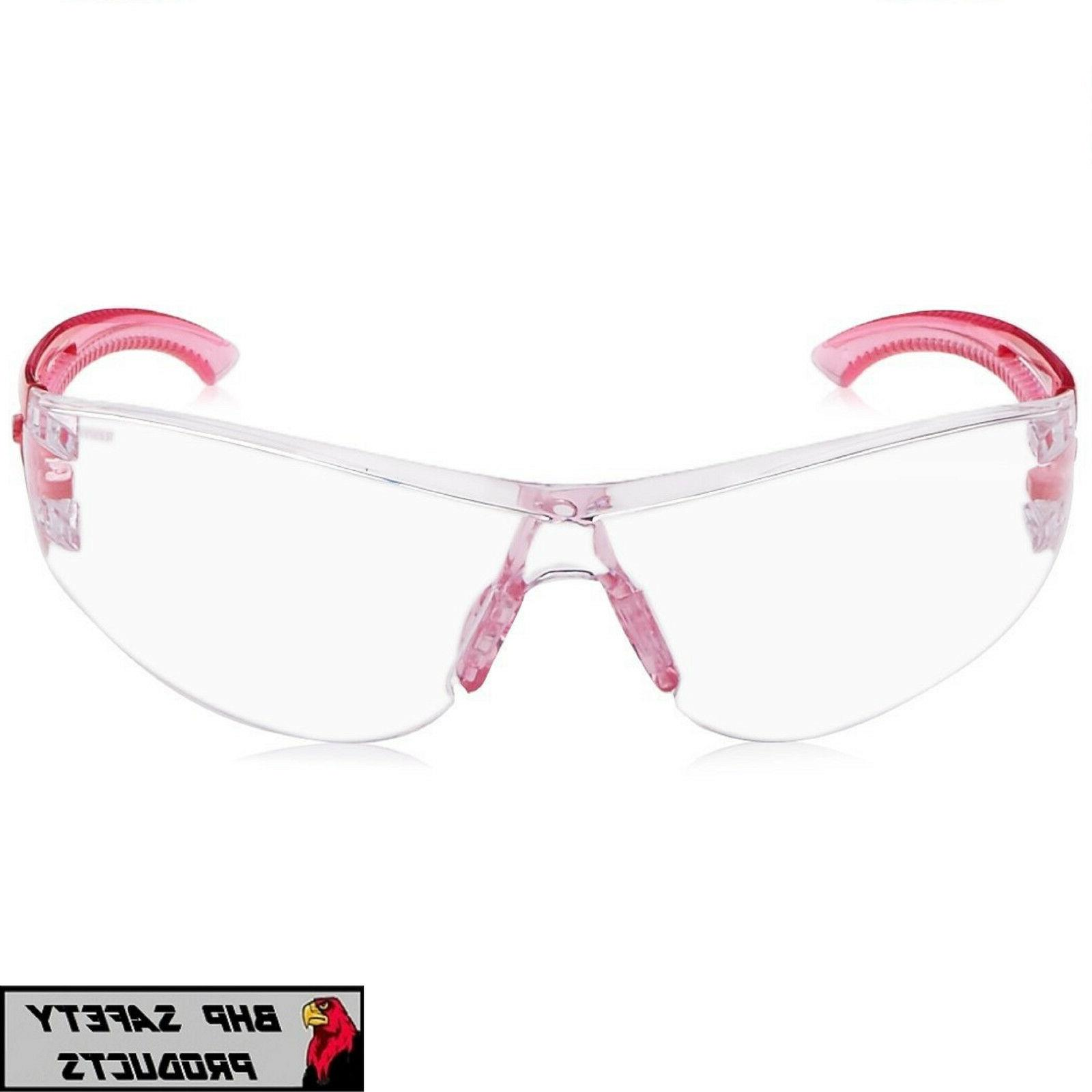RADIANS OPTIMA SAFETY GLASSES PINK COAT LENS Z87.1