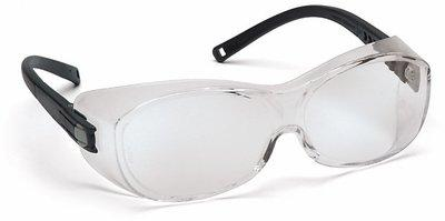Pyramex OTS Safety Glasses, Clear Lens, Black Frame