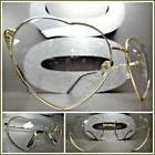 OVERSIZE VINTAGE RETRO Style Clear Lens EYE GLASSES Heart Sh