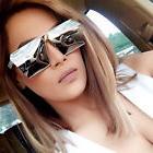 Oversized Fashion Style Women Sunglasses Gradient Mirror Len