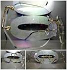 OVERSIZED VINTAGE RETRO Style Clear Lens SUN GLASSES Rimless