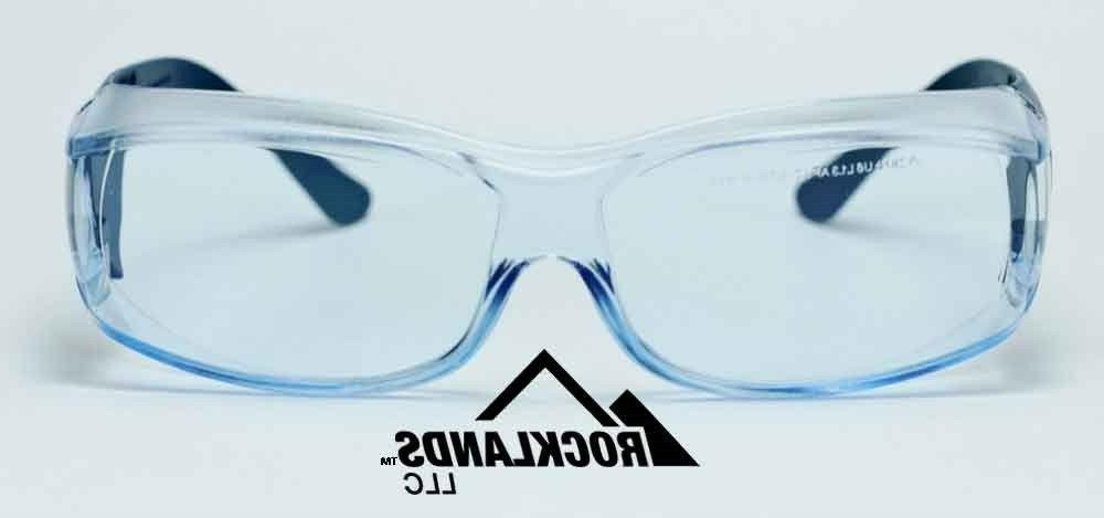 Elvex III Safety Glasses, Glasses Metal Detectable/Blue