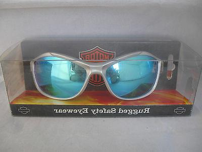 Harley-Davidson Personal Rugged Blue Mirror Work Glasses