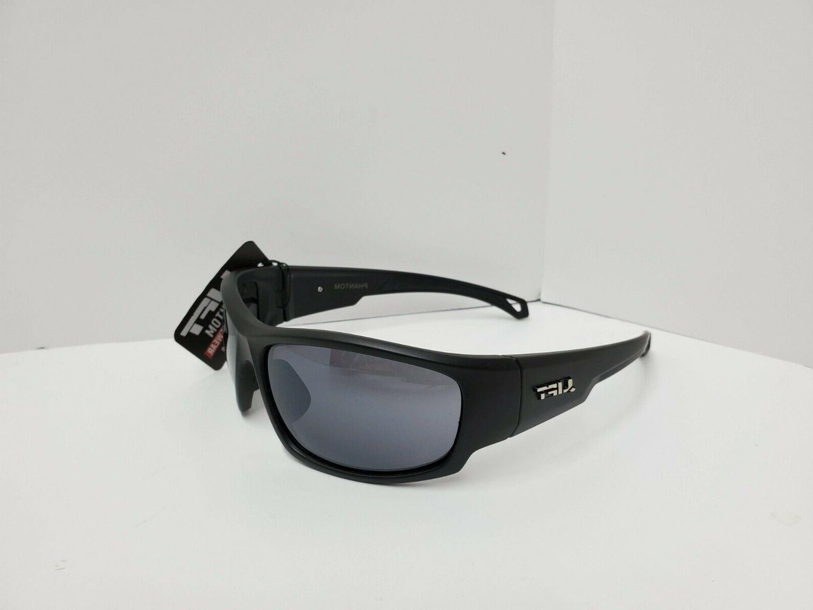 LIFT Safety Phantom Safety Glasses Black Frame/Smoke Lens Z8