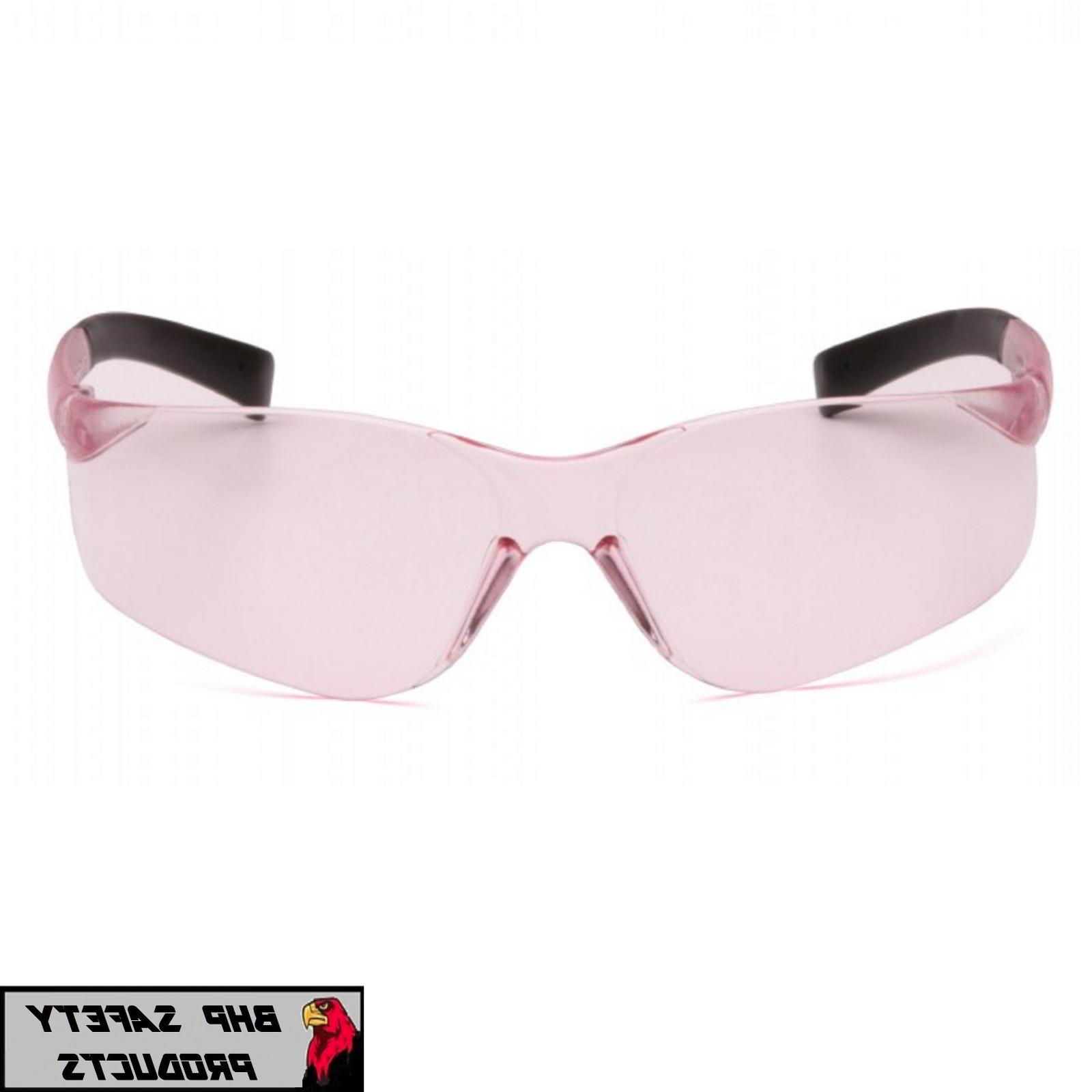 PYRAMEX MINI PINK LENS SMALL GLASSES WOMEN KIDS Z87+