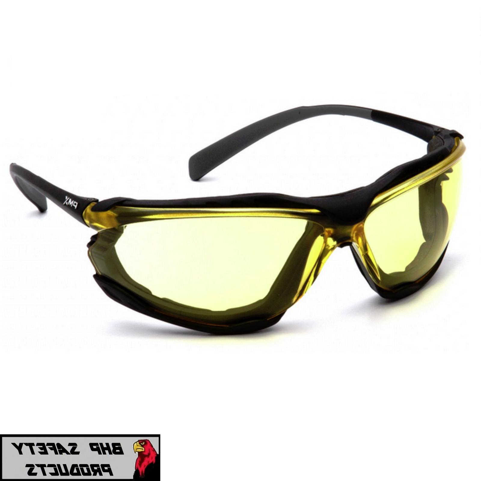 PYRAMEX PROXIMITY YELLOW ANTI FOG FOAM PADDED SAFETY GLASSES