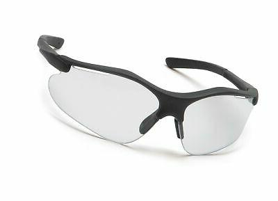pyramex fortress safety glasses black frame clear