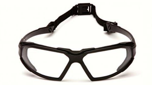 Pyramex Black Frame/Clear