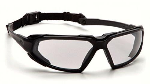 pyramex highlander safety eyewear black frame clear
