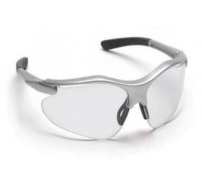 pyramex safety glasses clear lens silver frame
