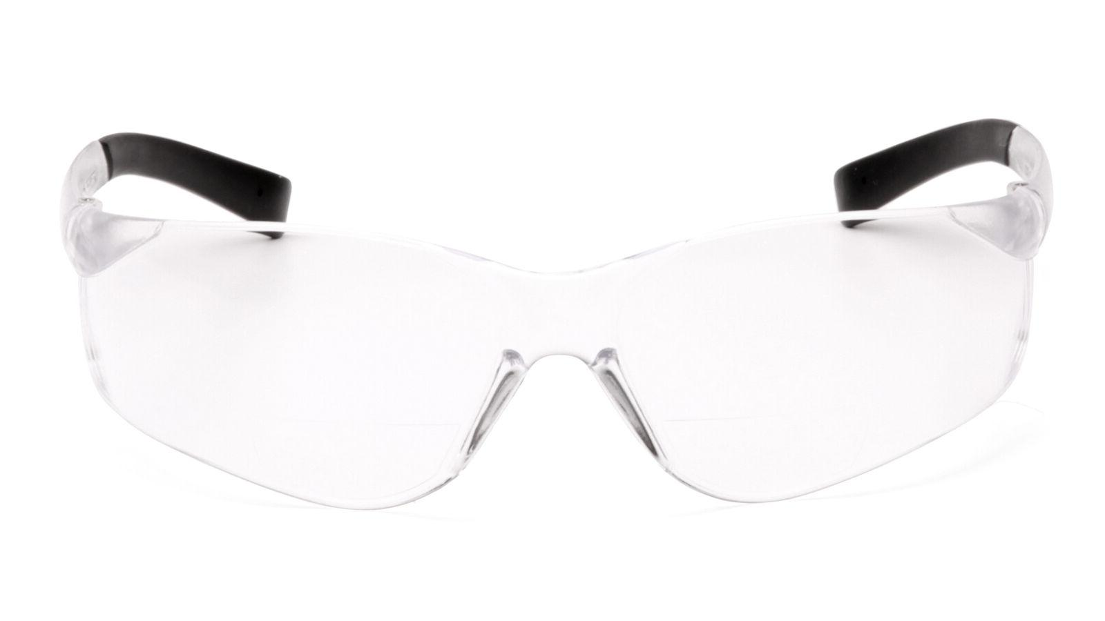 Pyramex ZTEK Readers Glasses, +1.0, +2.0 & +2.5, Bi-Focal