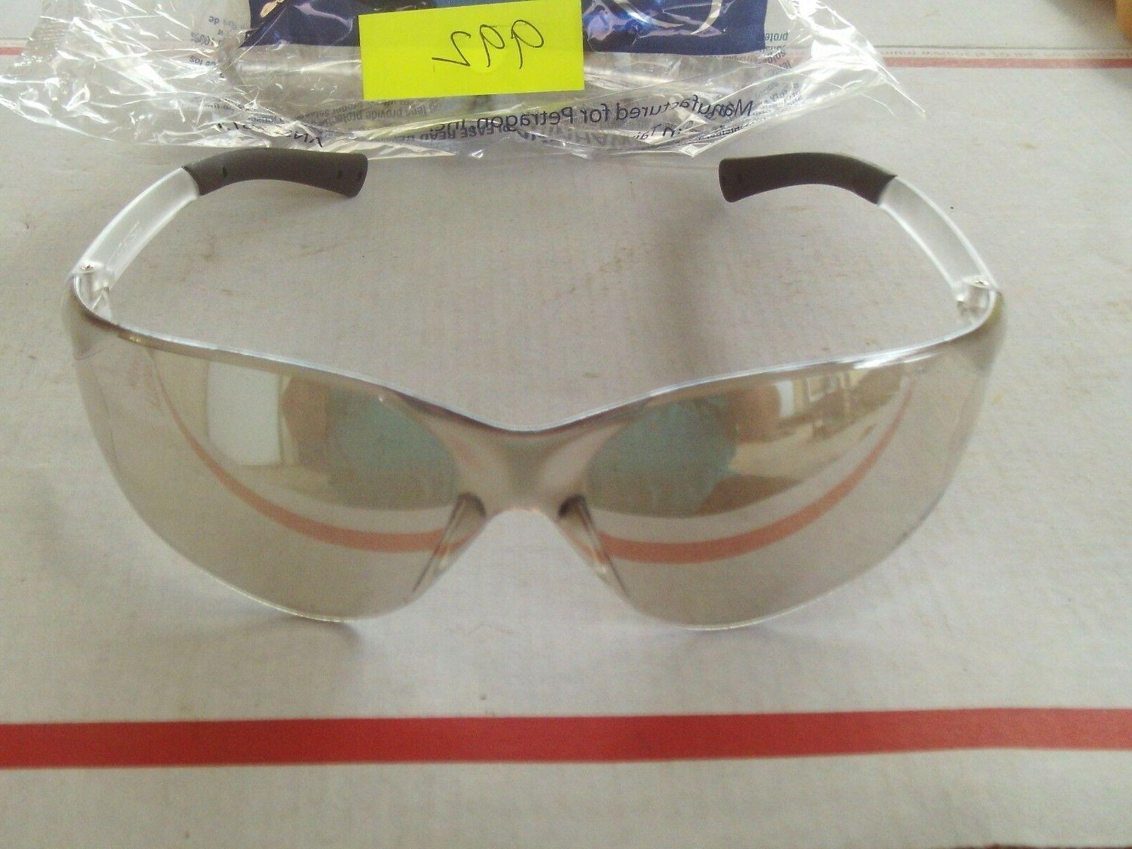 qty 2 safety glasses combo 1 slightly