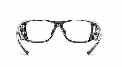 Radiation Safety Glasses Black Rectangular Frame with