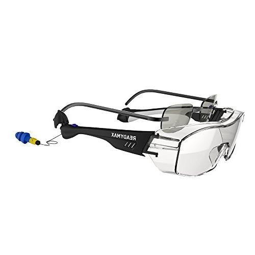 ReadyMax Style, Black Frame, Anti-Fog, Glasses Hearing Protection