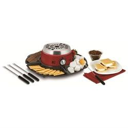 Kalorik Red 2-in-1 S'mores Maker with Chocolate Fondue Featu