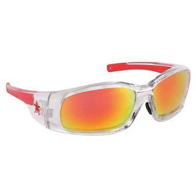 red orange mirror safety glasses scratch resistant