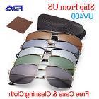 Retro Aviator Men Polarized Sunglasses For Man Eyewear Metal