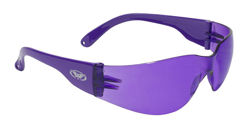 rider purple mirror lenses safety motorcycle glasses