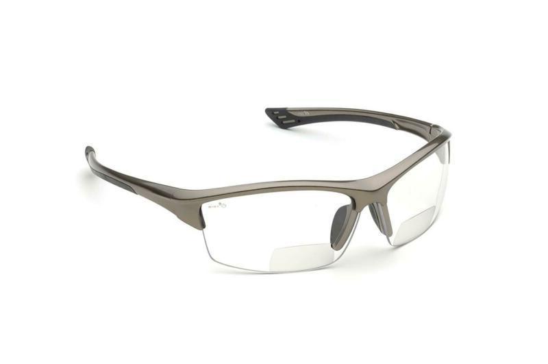 Elvex Rx-350C 1.5 Diopter Bifocal Safety Glasses, Metallic B