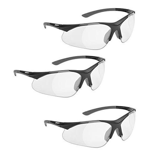 Elvex RX-500C Lens Magnifier, Black Frame/Grey Tips