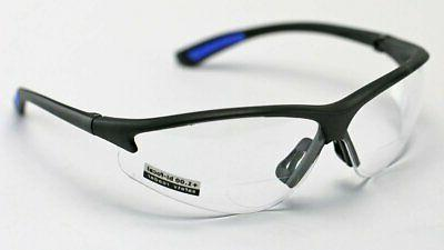 rx300 bifocal safety reading glasses clear lens