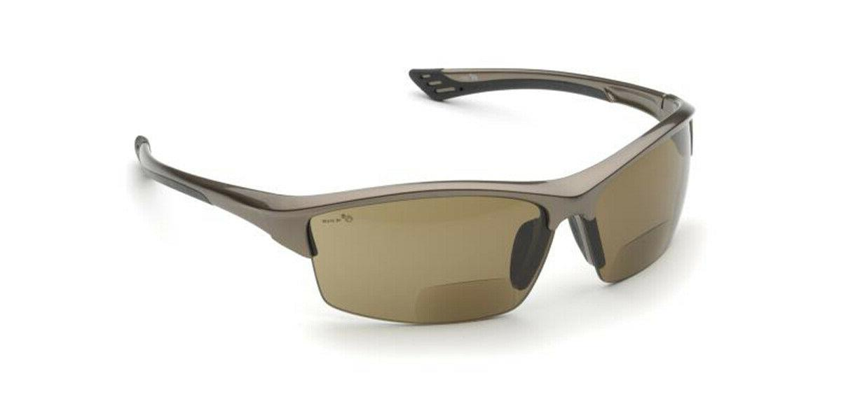 Elvex RX350 2.0 Brown Anti Fog Bifocal Safety Glasses Sun Re