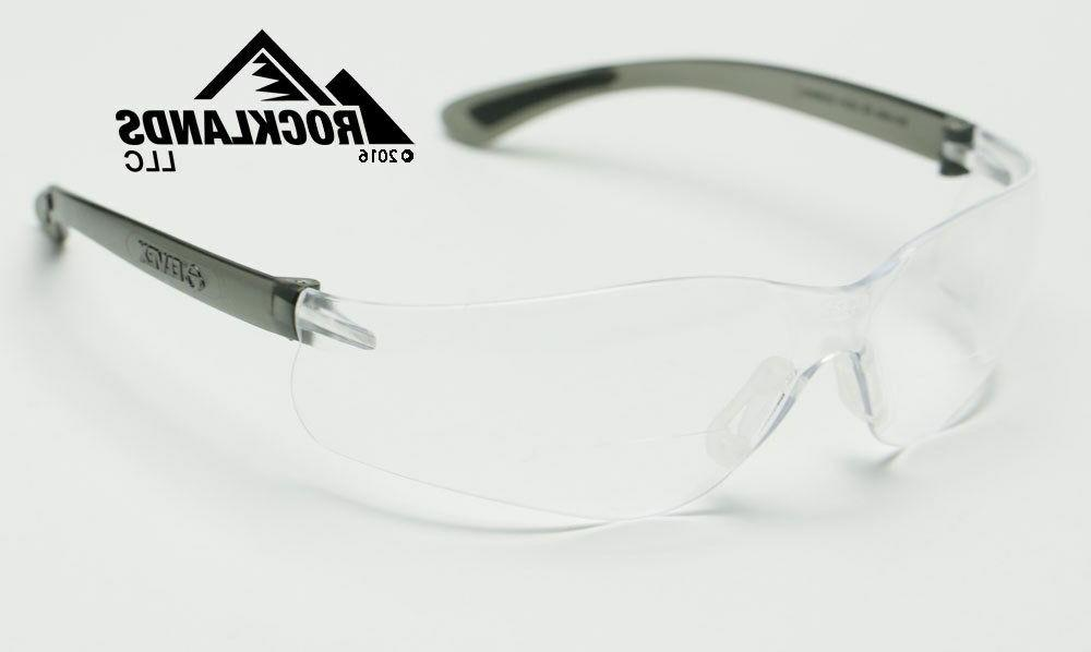 Elvex RX450™ Bifocal Safety/Reading Glasses Clear 2.5 Magn