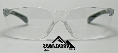 Elvex Bifocal Safety/Reading Glasses Clear Lens 1.5,2.0,2.5 Z87.1