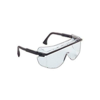 Uvex S2500C-01 Astro 3001 Safety Glasses Worn Over Prescript