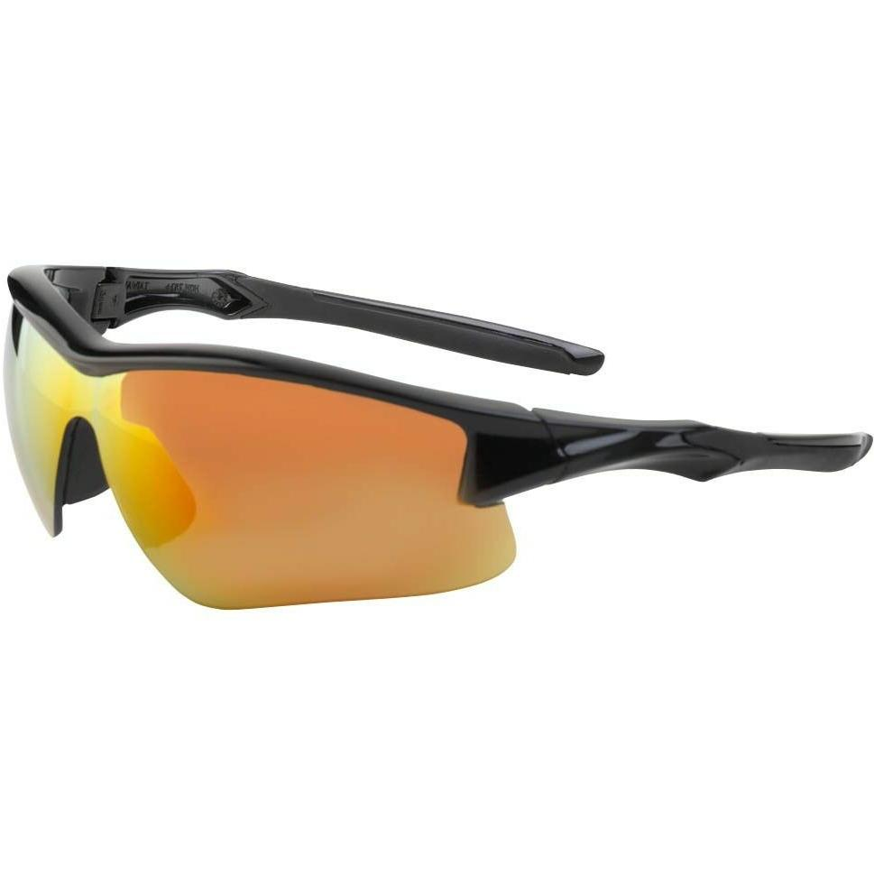 Uvex S4164 Acadia Eyewear - Safety Glasses, Black with Red M