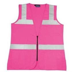 Erb Safety S721 61910 High Visibility Vest, Unrated, Pink, M