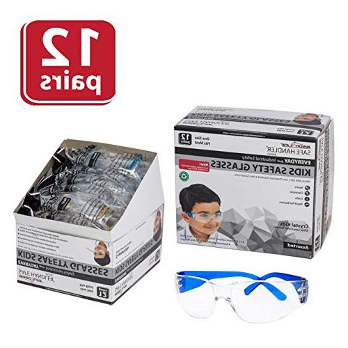 SAFE Kids Safety Glasses | Impact and Resistant Clear Polycarbonate Temple,