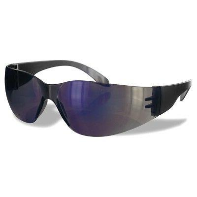 Rugged Blue Safety Glasses for Small Faces  Blue Mirror Lens