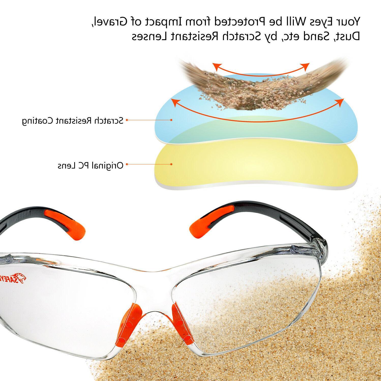 SAFEYEAR Safety Glasses Anti-fog Scratch-resistant Eye Neck Cord Z87+