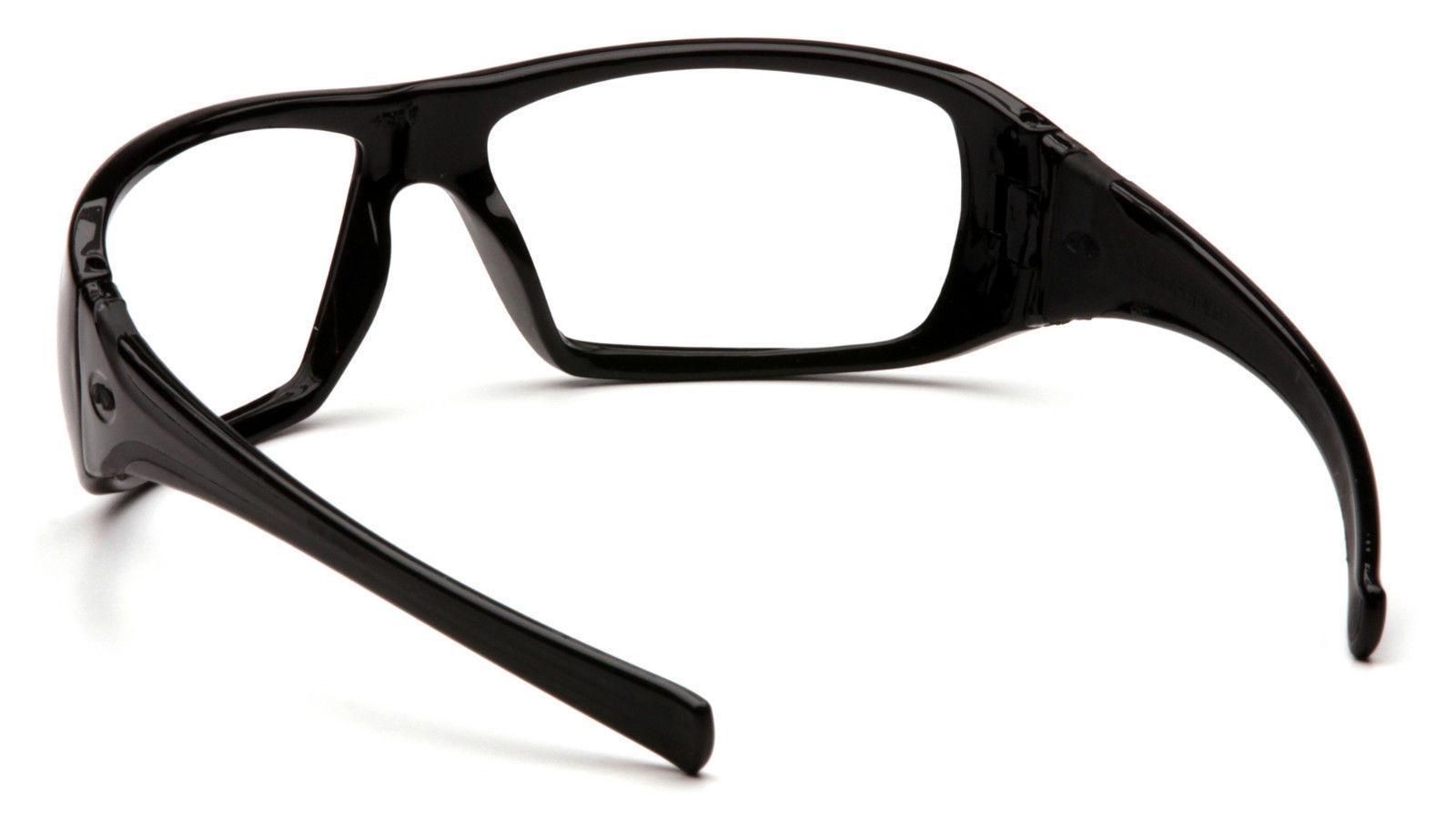 SAFETY GLASSES BLACK EYEWEAR PYRAMEX GOLIATH SB5610D