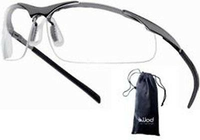 safety glasses contour clear metal frame 40049