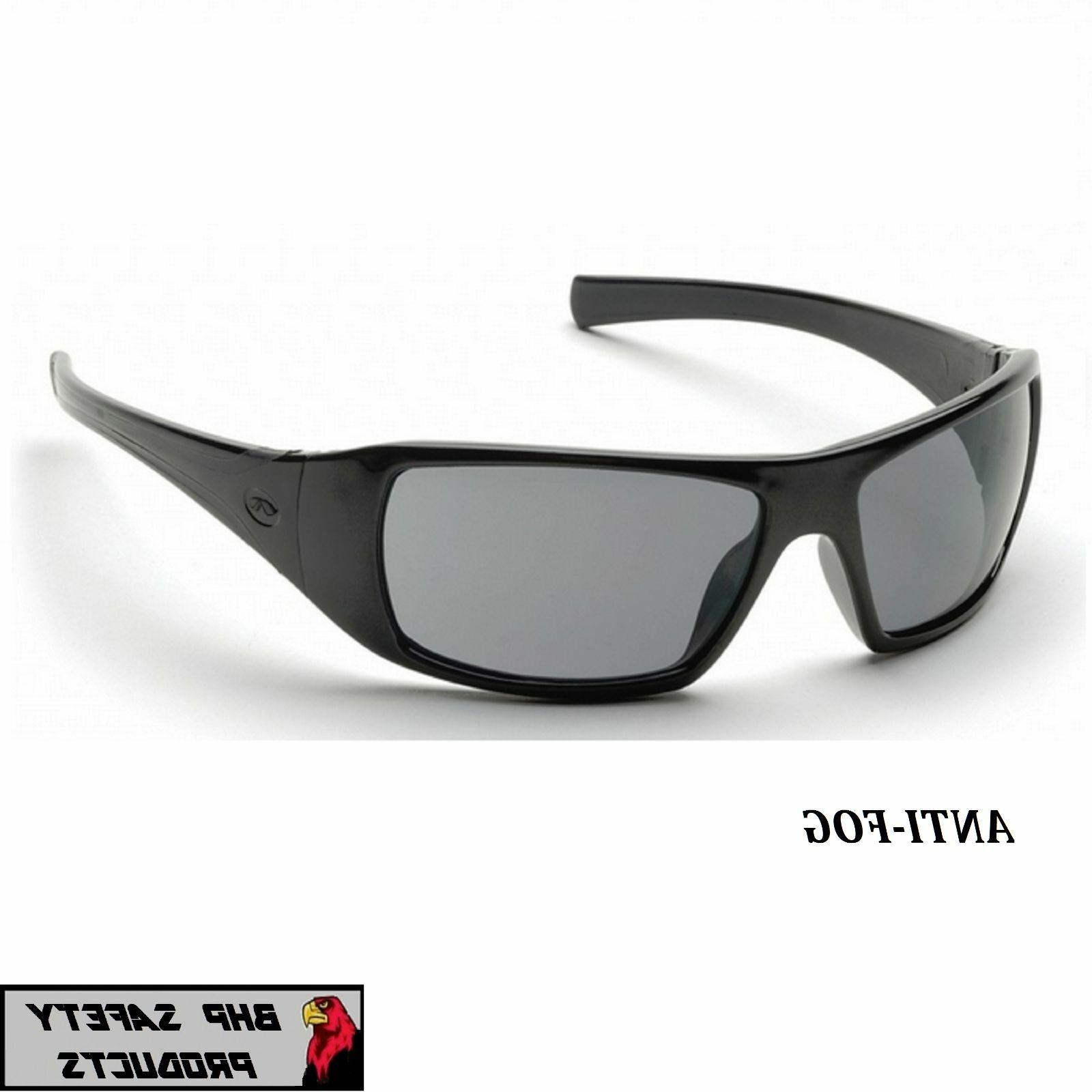 PYRAMEX GOLIATH SAFETY GLASSES SMOKE ANTI-FOG LENSES SUNGLAS