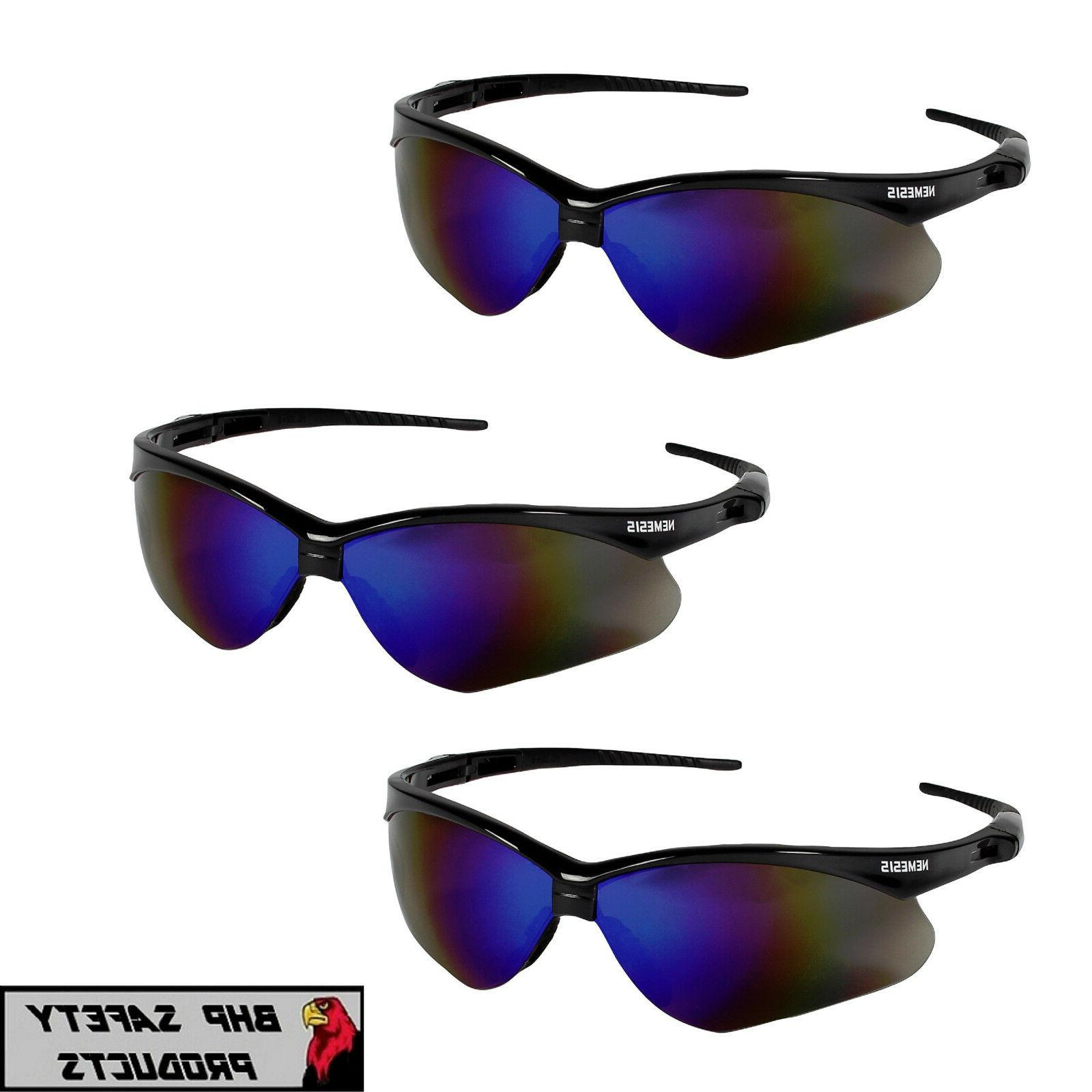 safety glasses gun metal frame