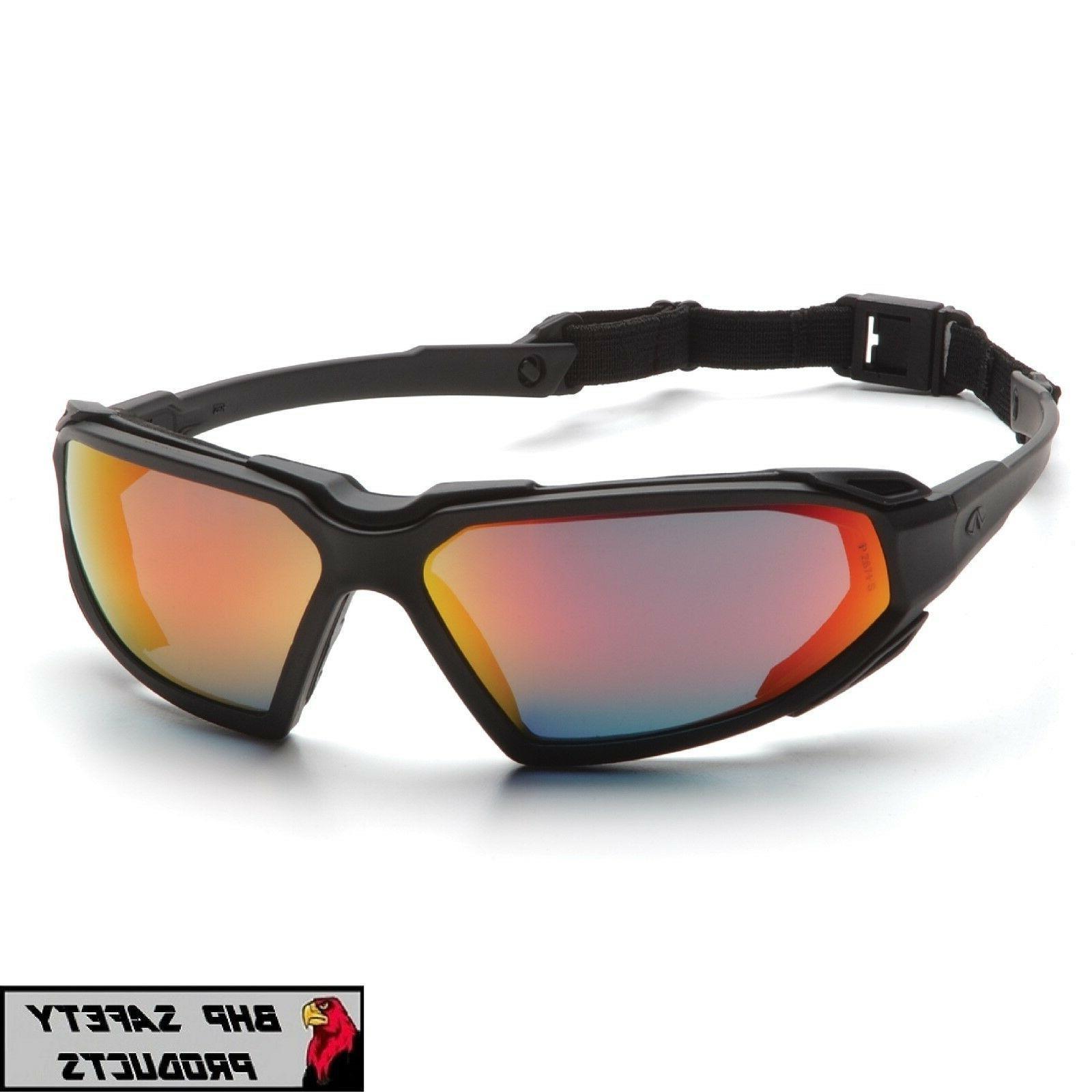 safety glasses highlander sky red