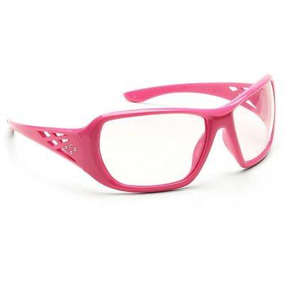 safety glasses ladies sporty clear lens pink