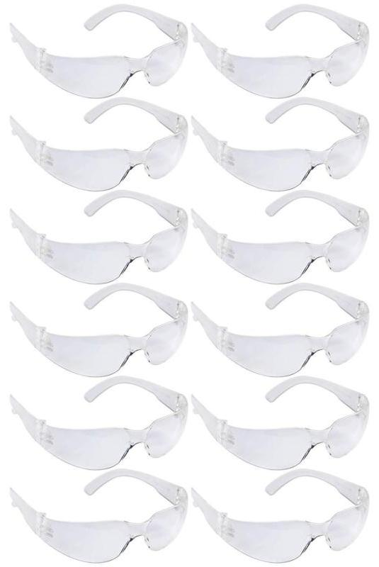 safety glasses one size clear lens